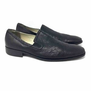 Kenneth Cole Loafers Shoes Black Leather 12